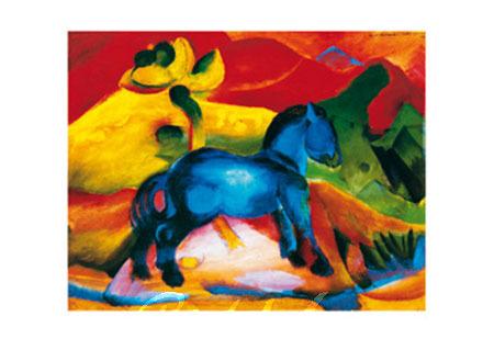 Das blaue Pferdchen Kunstdruck Marc Franz