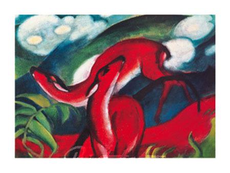 The red Deer Kunstdruck Marc Franz