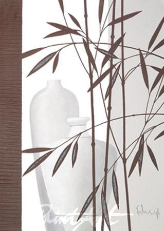 Whispering Bamboo III Kunstdruck mit Folienprägung Heigl Franz