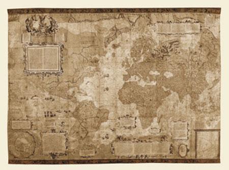Orbis Terrae Descriptio Kunstdruck Mercatore Gerardo