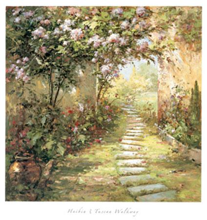 Tuscan Walkway Kunstdruck Haibin