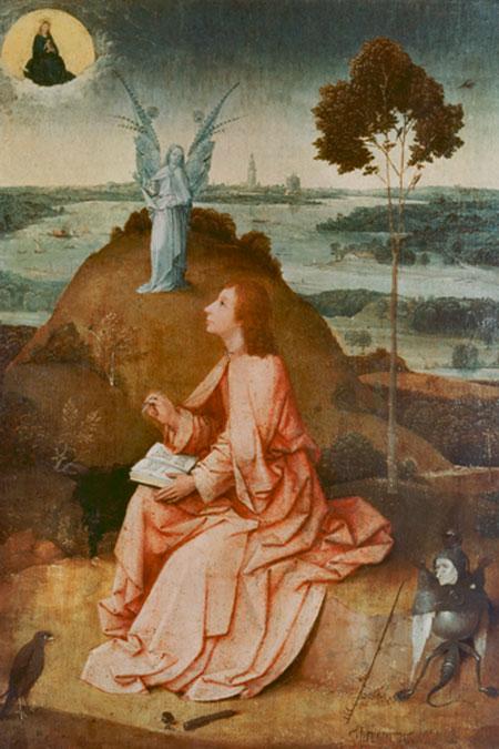 Johannes auf Patmos Bosch Hieronymus