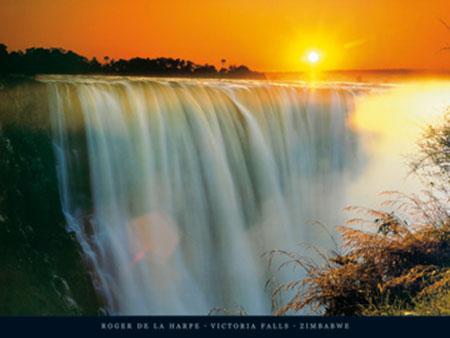 Victoria Falls, Zimbabwe Kunstdruck De La Harpe Roger