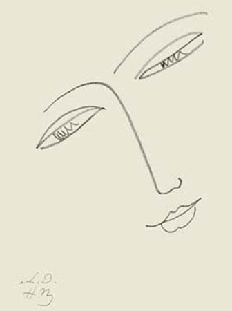 Face de femme Kunstdruck Matisse Henry
