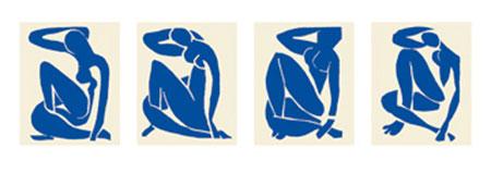 Blue Nude I,II,III,IV Kunstdruck Matisse Henry