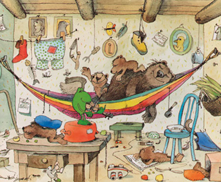 Bären Familie Kunstdruck Janosch