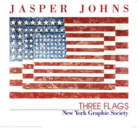 Three Flags Kunstdruck Johns Jasper