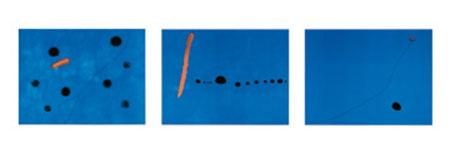 Blue I,II,III Kunstdruck Miro Joan
