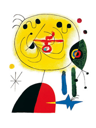 And Fix the Hairs of the Star Kunstdruck Miro Joan