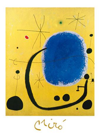 L'oro dell'Azzurro Kunstdruck mit Folienprägung Miro Joan