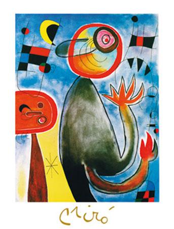 Les echelles en roue Kunstdruck mit Folienprägung Miro Joan