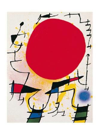 Le soleil rouge Kunstdruck Miro Joan