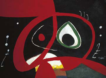 Kopf Kunstdruck Miro Joan