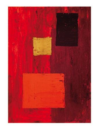 Schlichtes Rot Kunstdruck Phillips Jodi