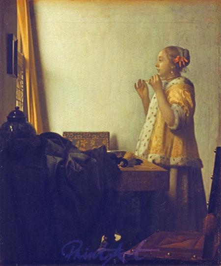 Junge Dame mit Perlenhalsband Plath Jutta