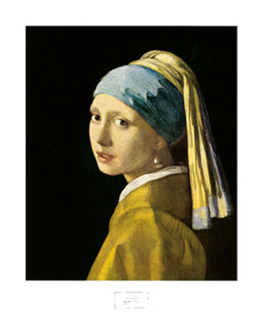 Girl with Turban Kunstdruck Schick Jürgen