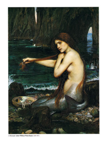 A Mermaid Kunstdruck Waterhouse John William
