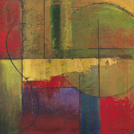 Opulent Relief I Kunstdruck mit Folienprägung Klung Mike