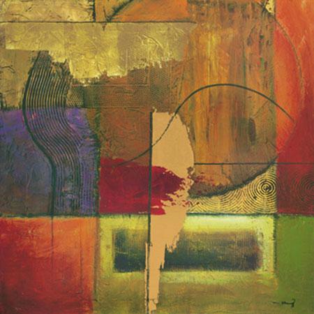 Opulent Relief II Kunstdruck mit Folienprägung Klung Mike