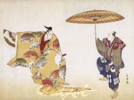 La Luna di Taro Kunstdruck Hokusai K.