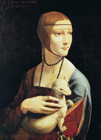 La dama con l'ermellino Kunstdruck Leblanc Richard