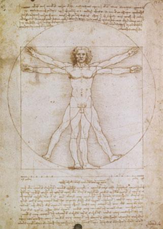 Proporzioni dell'uomo secondo Kunstdruck Leblanc Richard