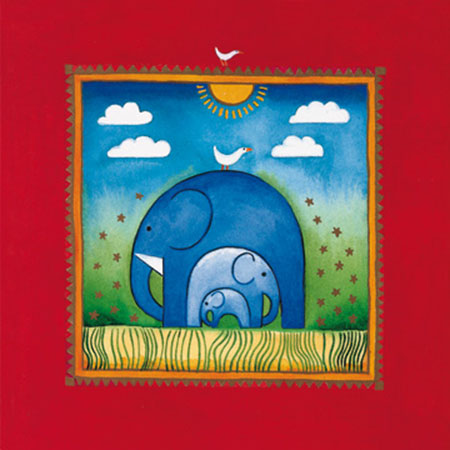 Three little elephants Kunstdruck Edwards Linda