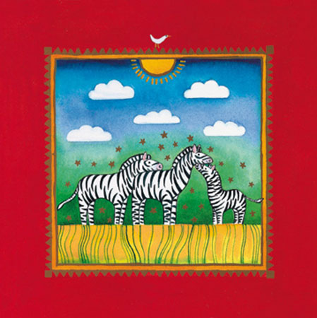 Three little zebras Kunstdruck Edwards Linda