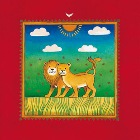 Two little lions Kunstdruck Edwards Linda