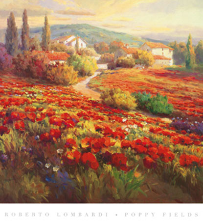 Poppy Fields Kunstdruck Lombardi Roberto