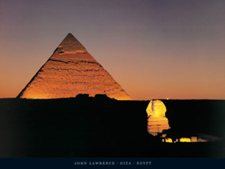 Giza, Egypt Kunstdruck Lawrence John