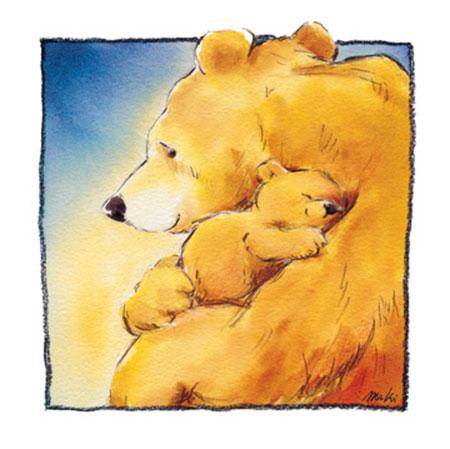 Mother Bear's Love I Kunstdruck Makiko