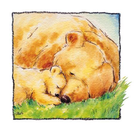 Mother Bear's Love II Kunstdruck Makiko