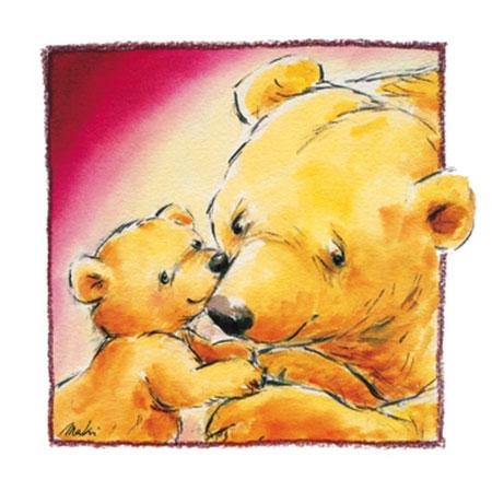 Mother Bear's Love III Kunstdruck Makiko