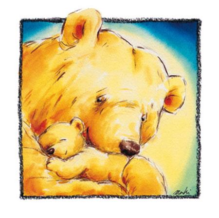 Mother Bear's Love IV Kunstdruck Makiko