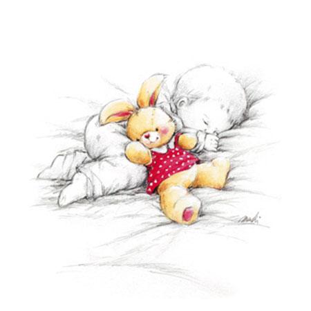 Sleepy Time I Kunstdruck Makiko