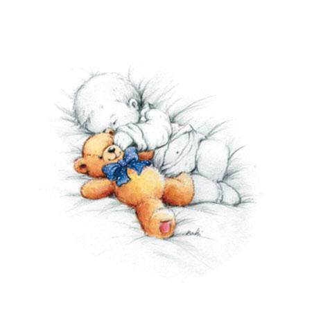 Sleepy Time II Kunstdruck Makiko