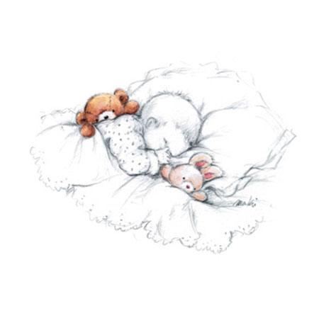 Sleepy Time III Kunstdruck Makiko