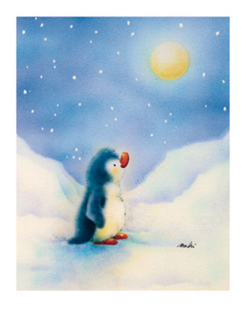 Little Penguin Kunstdruck Makiko