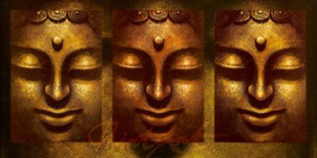 Buddha in Three Lights Kunstdruck Mahayana