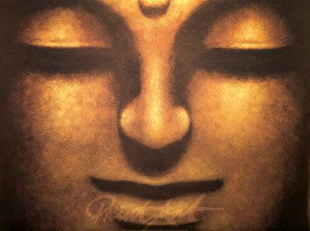 Bodhisattva Spiegelfolie gold Mahayana