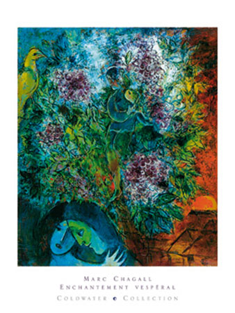 Enchantement Vesperal Kunstdruck Chagall Marc