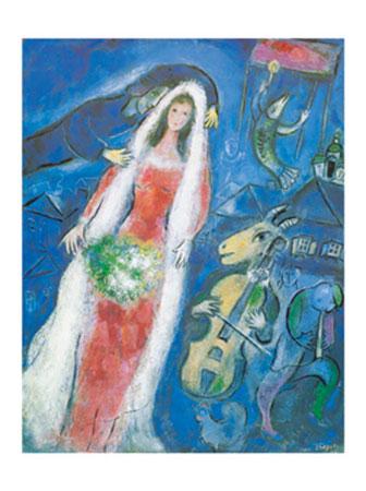 La Mariee, 1950 Kunstdruck Chagall Marc