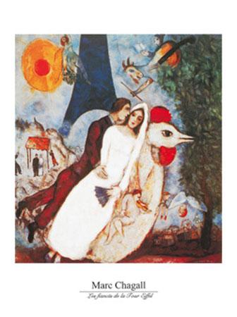 Les fiances Kunstdruck Chagall Marc