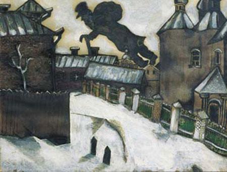 Veduta dalla finestra Kunstdruck Chagall Marc