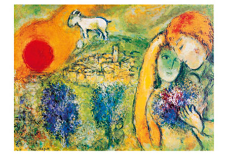 Liebende in Vence Kunstdruck Chagall Marc