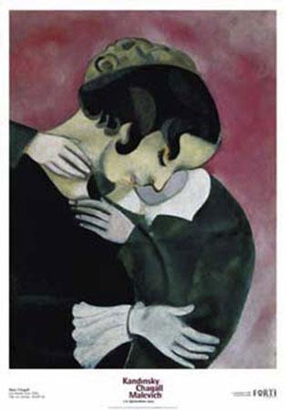amanti rosa Kunstdruck Chagall Marc