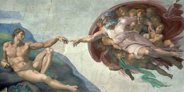 Die Erschaffung Adams Michelangelo