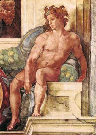 Die Erschaffung der Gestirne Michelangelo