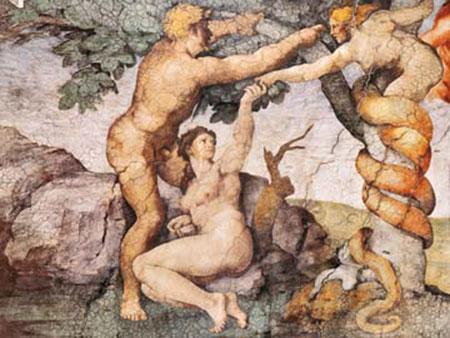 Sündenfall und Vertreibung aus Michelangelo
